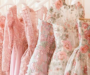 dresses, fashion, and florals image