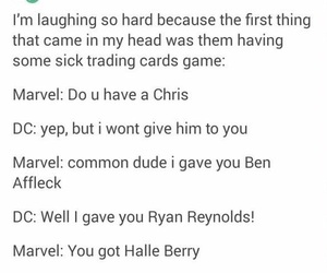 chris pine, DC, and Marvel image