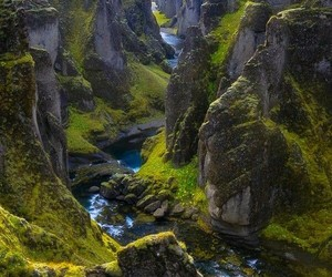 nature, canyon, and iceland image