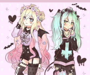 adorable, anime girls, and bright colors image