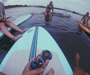 weed, ocean, and friends image