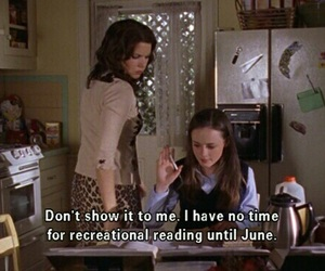 gilmore girls, reading, and june image