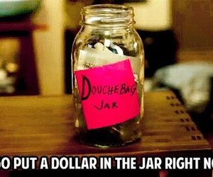 new girl, jar, and douchebag jar image