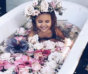 flowers, baby, and adorable image