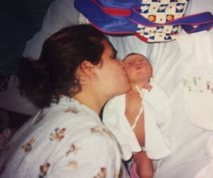 baby, mom, and new born image