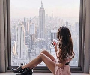 city, girl, and woman image