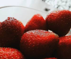 yummy, red, and strawberry image