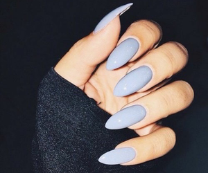 blue, nails, and so image