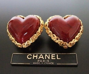 chanel, red, and earrings image