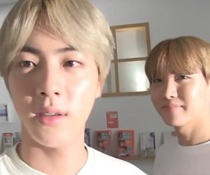 bts, hoseok, and jin image