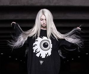 black, goth, and hair image