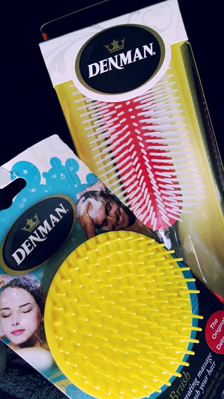 self care, natural curly hair, and denman brush image
