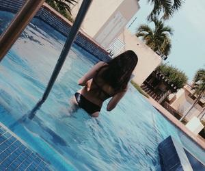 bikini, summer, and chill image