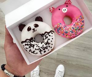 donuts, food, and panda image