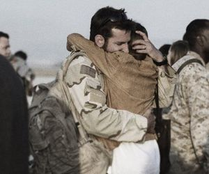couple, soldier, and american sniper image
