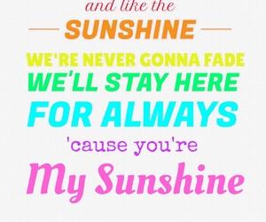Lyrics, my sunshine, and easelapp image
