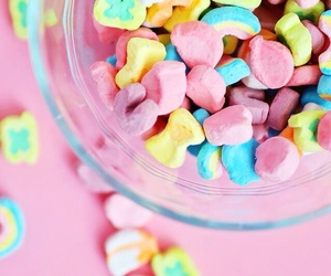 cereal, pink, and sweet image
