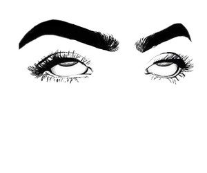 draw, eyes, and girls image