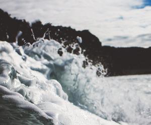 waves, landscape, and ocean image