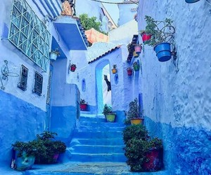 blue, marrakech, and photography image