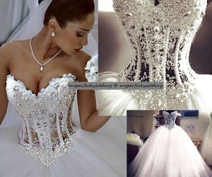 ball gown, bride, and dress image