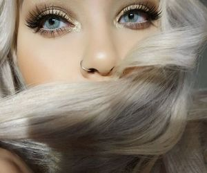 hair, eyes, and beauty image