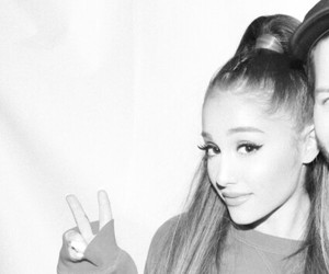 b&w, meet and greet, and ariana grande image