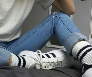 adidas, grunge, and white image