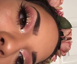 eyeshadow, pink, and soft pink image