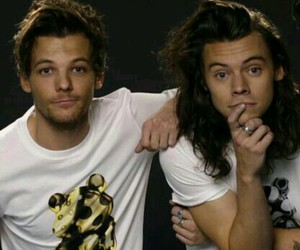 larry, louis tomlinson, and one direction image