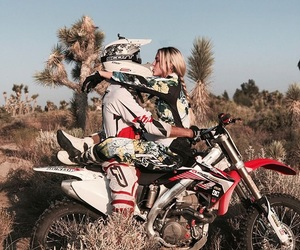 blonde, girlfriend, and motocross image