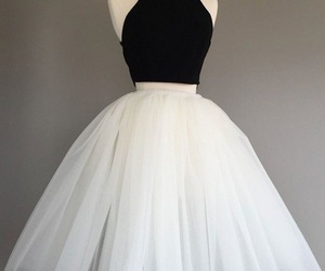 beautiful, vintage, and dress image