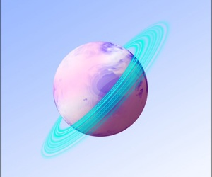 wallpaper, galaxy, and planet image