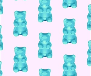 blue, bear, and wallpaper image