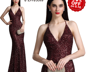 sequin dress, mermaid dress, and burgundy dress image