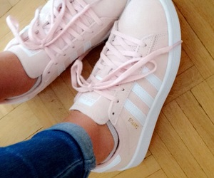 adidas, flower, and pink image