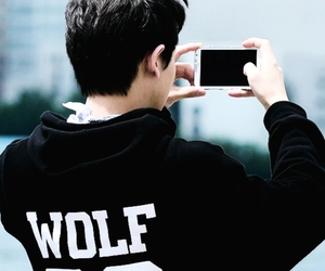 exo, wolf, and korean image