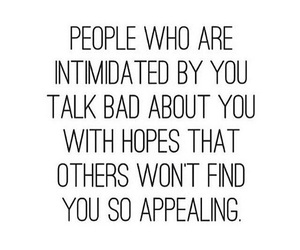 quote, intimidated, and haters image