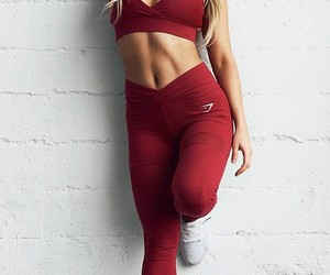 red, girl, and sport image