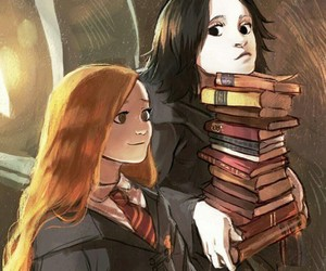 harry potter, severus snape, and art image