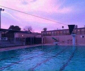 pool, grunge, and sky image