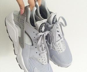 grey, shoes, and huarache image