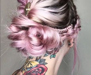 pastel, rainbowhair, and feshfen image
