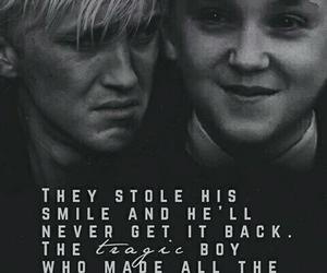 draco malfoy, hogwarts, and tears image