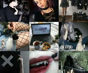 dark, girl, and goth image
