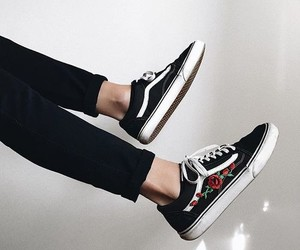 vans, boy, and roses image