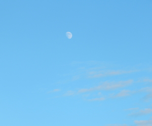 moon, sky, and bluesky ​ image