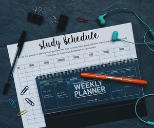 study, plan, and school image
