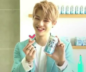 daniel, hite beer, and wanna one image
