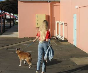 girl, dog, and tumblr image